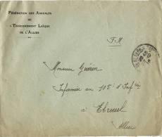 Enveloppe  Fédération Des Amicales De L'Enseignement Laïque De L' Allier - Marcophilie (Lettres)