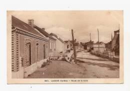 CPA CPSM Sarthe 72 - Lavaré - Route De La Gare - Editions ADOL - Mamers