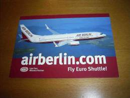 CPM Avion ALLEMAGNE - AIRBERLIN.COM Boeing 737 - PORT GRATUIT - 1946-....: Moderne