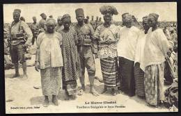 CPA  ANCIENNE- MAROC- CAMPAGNE DU MAROC- TIRAILLEURS SENEGALAIS ET LEURS FEMMES- TRES GROS PLAN - Morocco