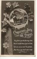 CHRISTMAS JOYS BE THINE - HOUSE IN SNOW - Christmas