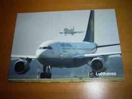 CPM Avion ALLEMAGNE - Lufthansa  AIRBUS A310  - PORT GRATUIT - 1946-....: Moderne