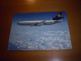CPM Avion ALLEMAGNE - Lufthansa  Douglas DC 10 - PORT GRATUIT - 1946-....: Moderne