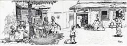 SENEGAL   SONADIS  TRES BELLE ILLUSTRATION DE MOHISS  -  CARTE DOUBLE VOLET - Sénégal