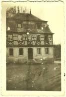 Ancienne Photo Poste De Garde Bassenheim Am Platz 56220 Hettier De Boislambert Allemagne WWII WW2 WW II 2 Rathaus 1946 - Lieux