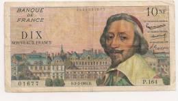 10 NF RICHELIEU  2.2.1961 - 1959-1966 ''Nouveaux Francs''