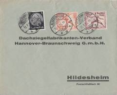 DR Brief Mif Minr.512,612,614 Algermissen 11.8.36 - Deutschland