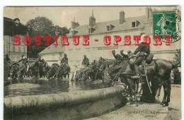 23 - GUERET - Visuel Unique Sur D* - Edition ND N° 125 < Place Bonnyaud Dragons à L'abreuvoir - Militaire - Dos Scané - Guéret