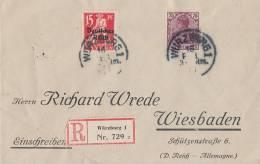 DR R-Brief Mif Minr.121,148 Würzburg 16.2.21 - Briefe U. Dokumente