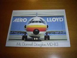 CPM Avion ALLEMAGNE - Mc Donnel Douglas MD-83 Aero Lloyd - PORT GRATUIT - 1946-....: Moderne