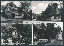 12-1068 Thale / Harz (Normalformat, 1966) - Kurheim Brunhilde, Hotel Bodetal U.a. - Thale