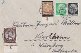 DR Brief Mif Minr.540 UR,548 UR,Zdr.W59 Klütz 20.4.35 - Deutschland