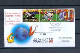 FRANCE CHAMPION DU MONDE 1998 COLOMBIE 1 TUNISIE 0 MONTPELLIER LA MOSSON 22.6.1998 N° 18 / 20    TRES RARRE - Errors & Oddities