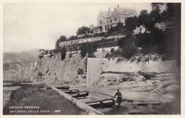 GENOVA VECCHIA - BATTERIA DELLA CAVA BELLA FOTO D´EPOCA ORIGINALE 100% - Genova