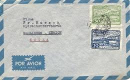 Flugpostbrief In Die Schweiz - Uruguay