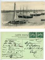BORDEAUX VUE SUR LA GARONNE BATEAU Courrier Madame William LAPARRA Artiste Peintre - Bordeaux