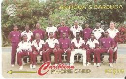 TARJETA DE ANTIGUA Y BARBUDA DE UN EQUIPO DE CRICKET  231CATA - Antigua And Barbuda