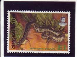 Swaziland YV 598 N 1992 Python - Schildpadden