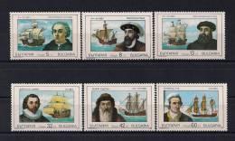 BULGARIA 1989, YVERT 3292/3297**, BARCOS, NAVEGANTES - Barcos