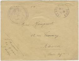 """27 Les Andelys FM""""école Militaire Préparatoire D'infanterie De Montreuil-sur-mer*le Vaguemestre"""" - WW I"""