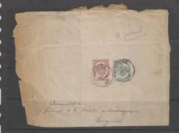 COB 53 Et 55 Sur Bande Pour Journal Du 02/01/1900 De Verviers Vers Soignies - Stamped Stationery