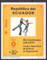 Mmy032 SPORT OLYMPISCHE SPELEN SCHAATSEN OLYMPIC GAMES SKATING ECUADOR 1984 PF/MNH - Winter 1984: Sarajevo