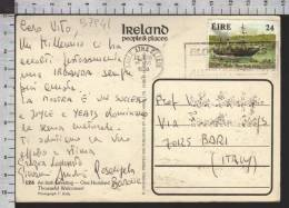 B7941 EIRE Postal History 1988 CORK NEW YORK FLAG IRELAND - Irlanda