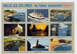 """BELLE-ILE-EN-MER--""""La Bien-Nommée""""--vues Diverses (Le Palais,bateau,grottes,Sauzon,Goulphar,Port-Donnant) - Belle Ile En Mer"""