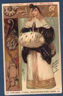 Chromo Chocolat Guerin-Boutron Costumes 2e Série Renaissance à Nos Jours 99 Hollande XVIIIe Siècle Dame De Marchand - Guérin-Boutron