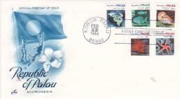 Palau 1984 Sea Life FDC - Palau