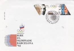 Slovenia 1992 Barcelona Olympic Games FDC - Slovenia
