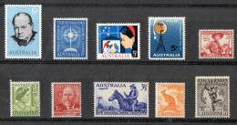 Australia Selection Late 1940s To Early 1960s MNH - 1952-65 Elizabeth II : Pre-Decimals