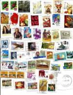"""AUSTRALIA LOT68 MIXTURE OF50+ USED STAMPS SOME 2010/12 INC.$1.00  """"FLOWER""""  ETC.READ DESCRIPTION!! - Timbres"""
