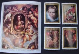 PDGAfr1. N°444,445,446,447 + Bloc N°10 1978. 400è Anniversaire De La Naissance De Pierre Paul Rubens. - Côte D'Ivoire (1960-...)