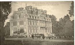 CHATEAU DE SOUVILLY - COTE NORD - DETRUIT PAR UN INCENSIE, LE 23 JUIN 1918 ( Animées - CHASSE ) - France