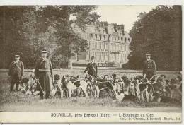 SOUVILLY , PRES BRETEUIL - L'EQUIPAGE DU CERF ( Animées - CHASSE ) - France