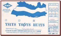 El Salvador 1987 - QSL Radio Card San Salvador To Italy / HU1YS - Radio Amateur