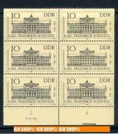 1981, MiNR. 2619**, 6xaus Bogen Mit Bedrucktem Unterrand - [6] Oost-Duitsland