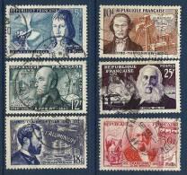 """FR YT 1012 à 1017 """" Inventeurs Célèbres """" 1955 Oblitéré - Usati"""