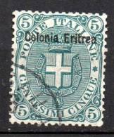 1893 Eritrea Sovrast. N. 3 Timbrati Used - Eritrea