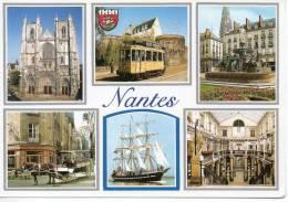 CP - PHOTO - NANTES - MULTIVUES - 137 - LA CATHEDRALE ST PIERRE - LA MOTRICE 144 DEVANT LE CHATEAU DES DUCS DE BRETAGNE - Nantes