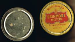 """Italia 1 Contenitore Di Tabacco Vuoto In Metallo (completo) """"Murrays"""" ERINMORE MIXTURE - Contenitori Di Tabacco (vuoti)"""