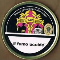 """Italia Contenitore  Di Tabacco Vuoto In Metallo (completo) """"Rattray´s Black Mallory"""" - Contenitori Di Tabacco (vuoti)"""