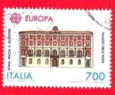 ITALIA - 1990 - USATO - Europa - 35ª Emissione - 700 L. • Palazzo Delle Poste, A Roma - 6. 1946-.. Repubblica