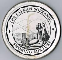 """Italia Contenitore Di Tabacco Vuoto In Metallo (completo) """"The Balcan  Sobranie"""" SMOKING MIXTURE - Contenitori Di Tabacco (vuoti)"""