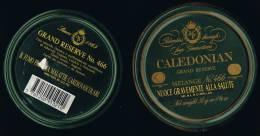 """Italia 1 Contenitore Di Tabacco Vuoto In Metallo (completo) """"CALEDONIAN""""  Verde - Contenitori Di Tabacco (vuoti)"""