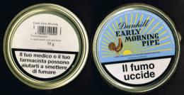 """Italia  1 Contenitore Di Tabacco Vuoto In Metallo (completo) """"EARLY MORNING PIPE""""  Dunhill - Contenitori Di Tabacco (vuoti)"""