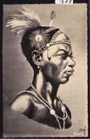Madagascar - Danseur Antanosy - Dessin De R. Roussef - Vers 1957 (-513) - Madagascar