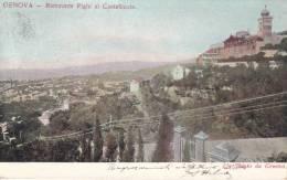 GENOVA - RISTORANTE RIGHI AL CASTELLACCIO VG  BELLA FOTO D´EPOCA ORIGINALE 100% - Genova (Genoa)