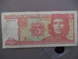 3 Peso Che Geuvara - Cuba